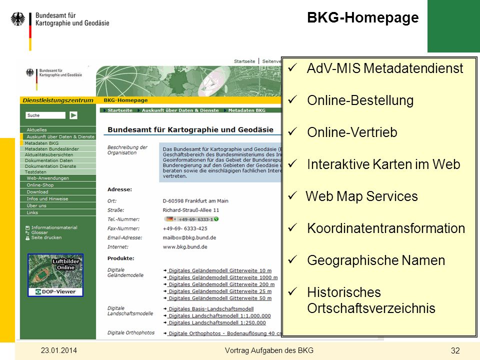 Vortrag Aufgaben des BKG