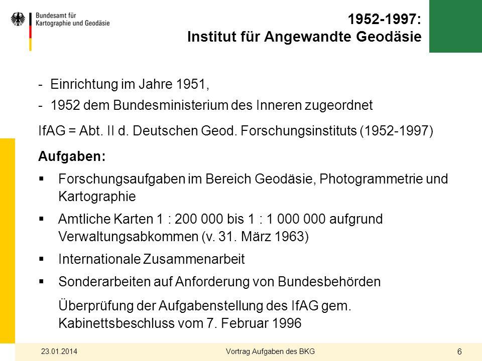 1952-1997: Institut für Angewandte Geodäsie