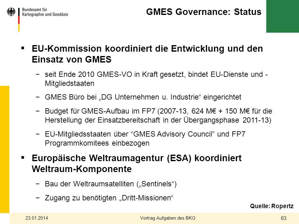 GMES Governance: Status