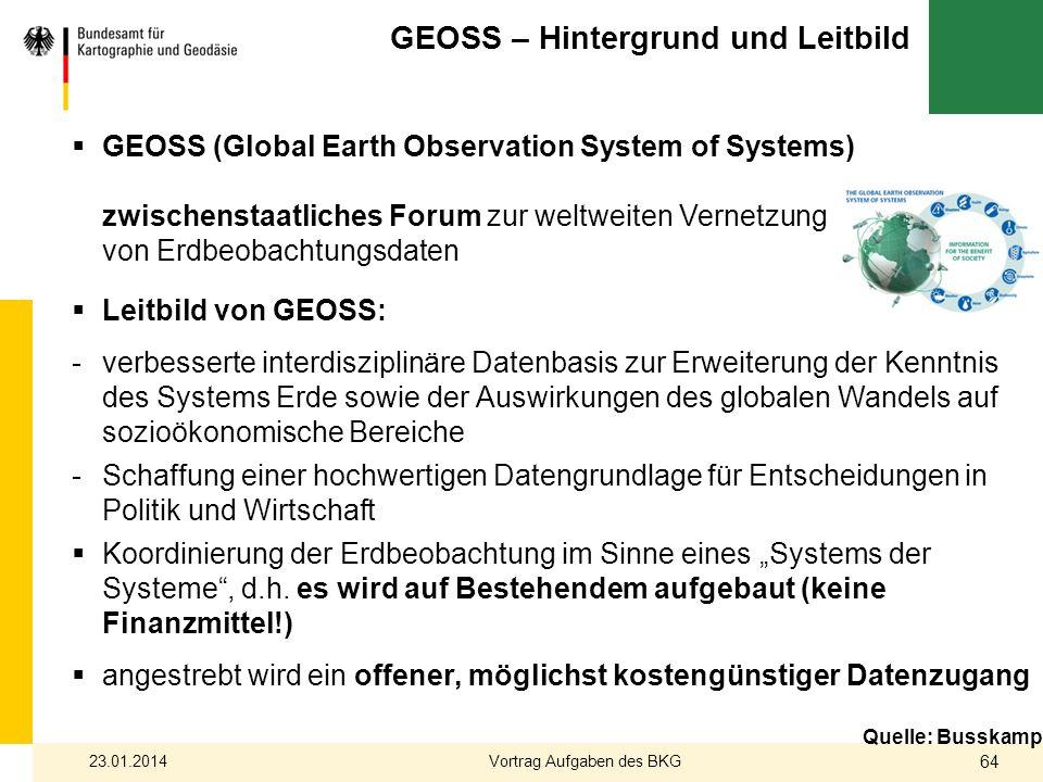 GEOSS – Hintergrund und Leitbild