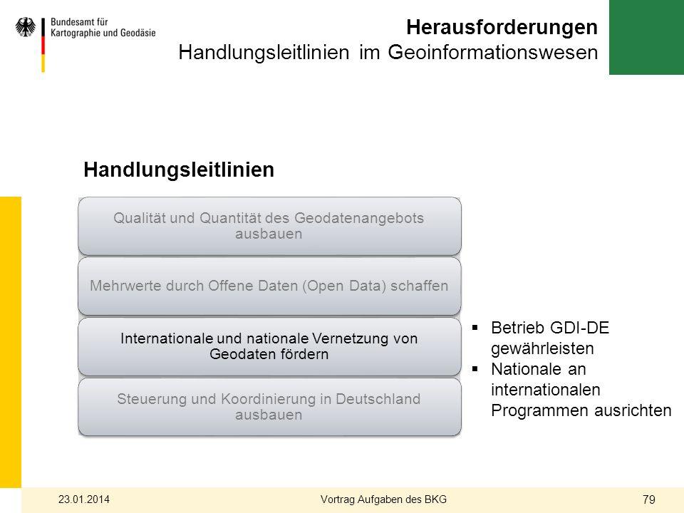 Herausforderungen Handlungsleitlinien im Geoinformationswesen