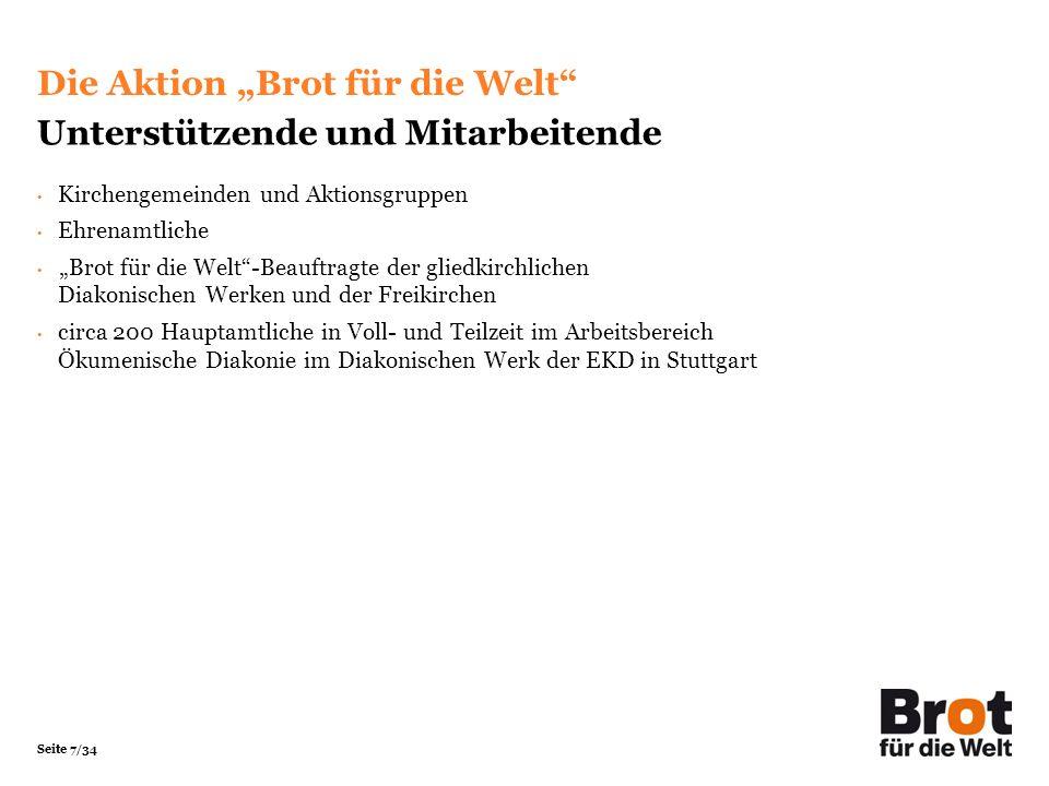 """Die Aktion """"Brot für die Welt Unterstützende und Mitarbeitende"""