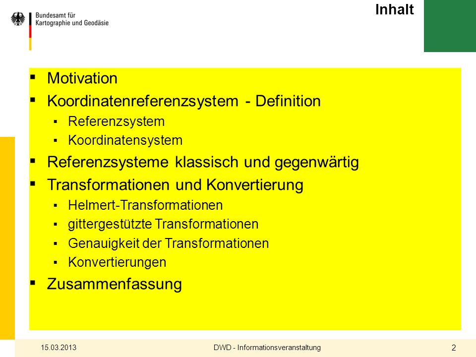 DWD - Informationsveranstaltung