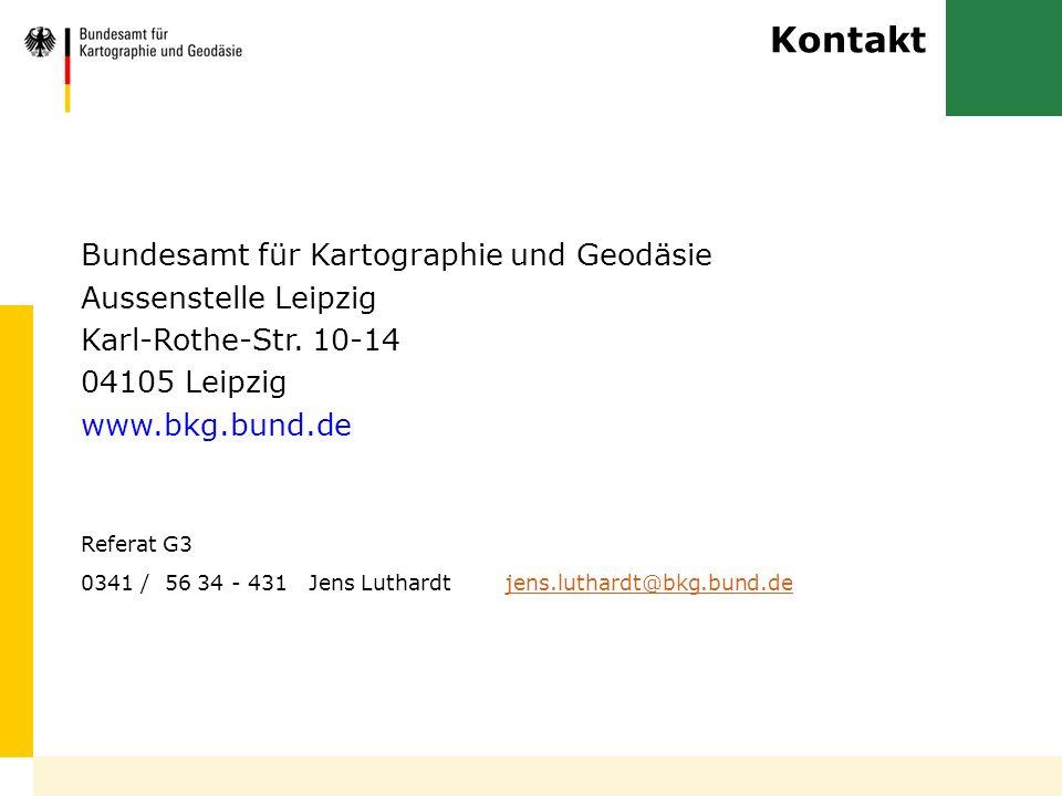 Kontakt Bundesamt für Kartographie und Geodäsie Aussenstelle Leipzig