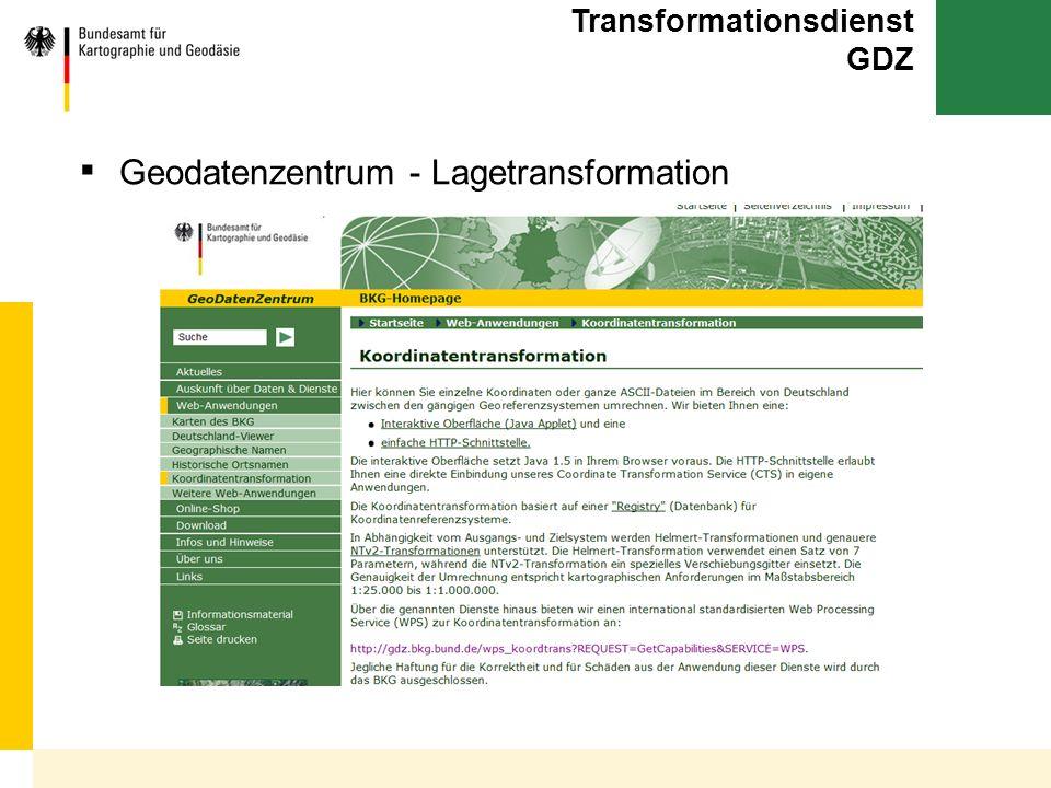 Transformationsdienst GDZ
