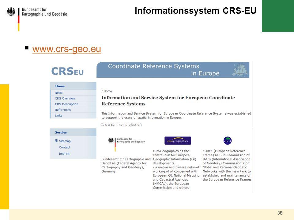 Informationssystem CRS-EU