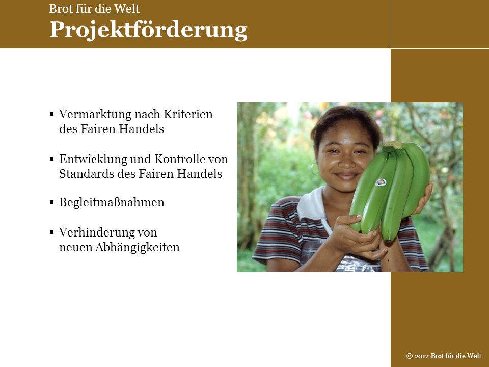 Brot für die Welt Projektförderung