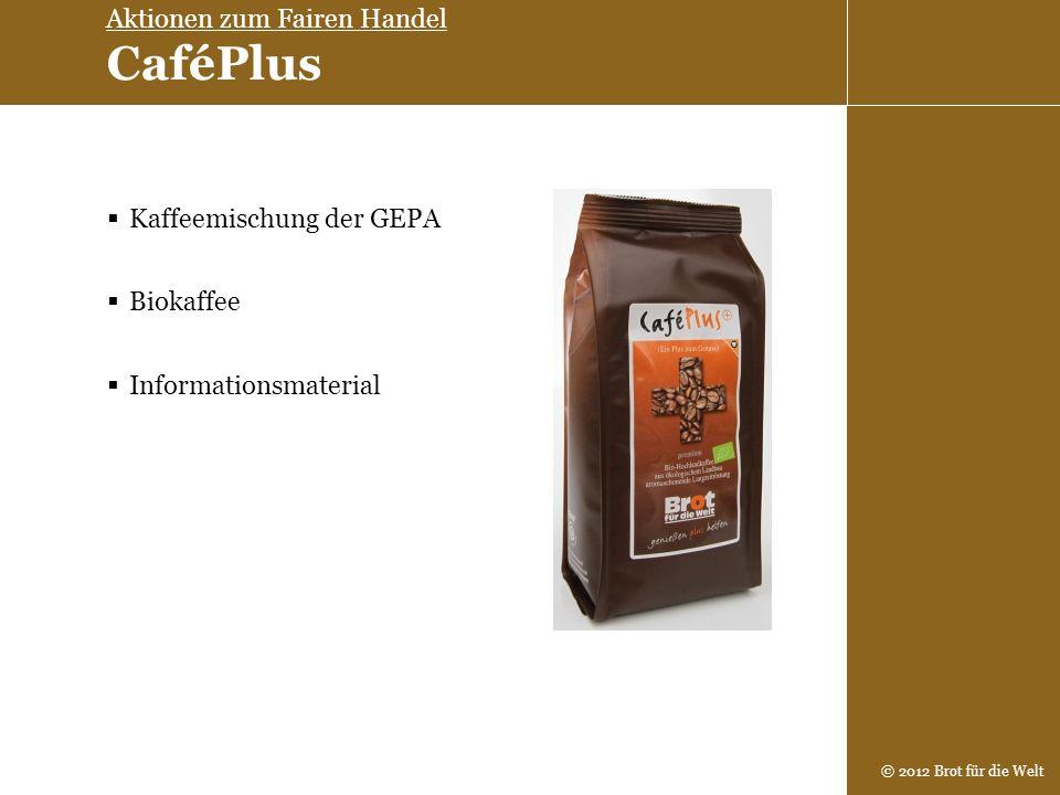 Aktionen zum Fairen Handel CaféPlus