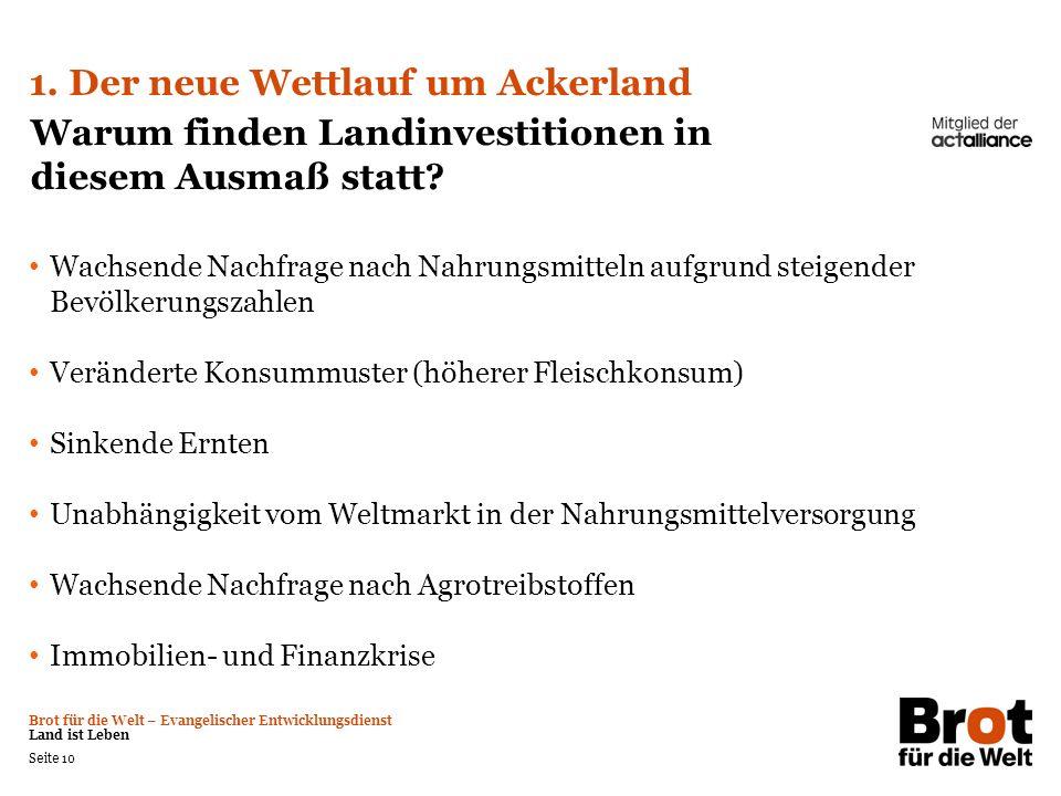 1. Der neue Wettlauf um Ackerland