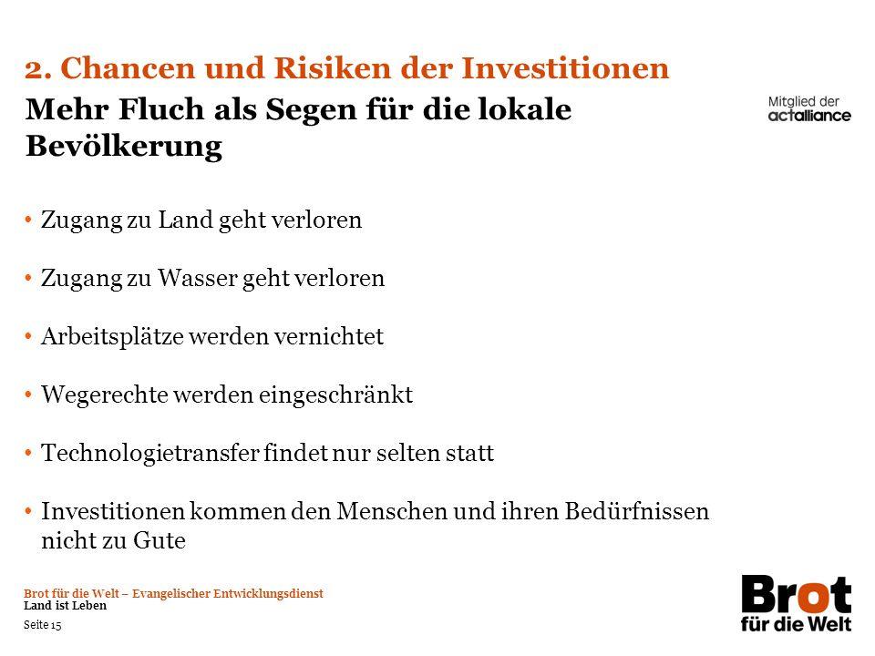 2. Chancen und Risiken der Investitionen
