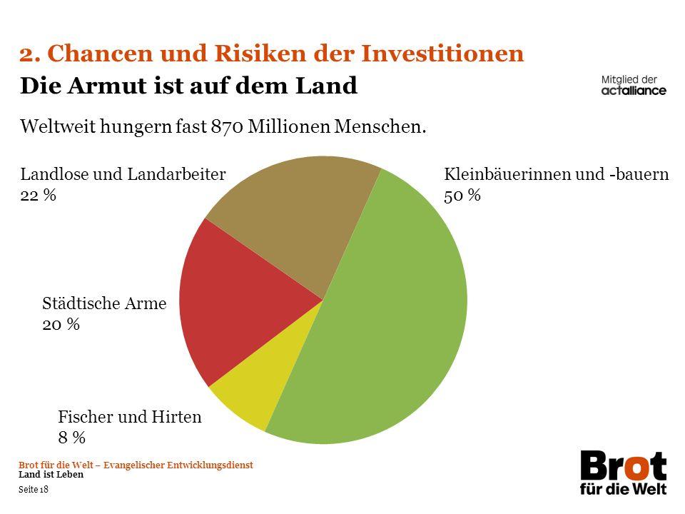 2. Chancen und Risiken der Investitionen Die Armut ist auf dem Land