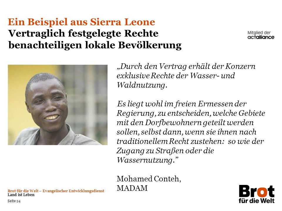 Ein Beispiel aus Sierra Leone
