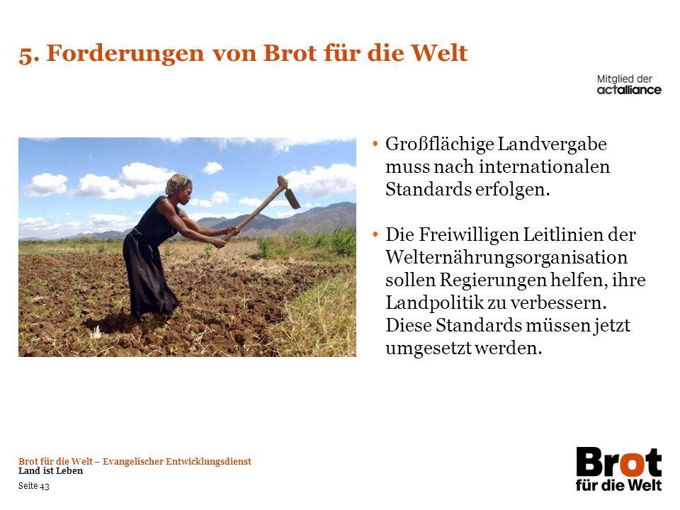 5. Forderungen von Brot für die Welt