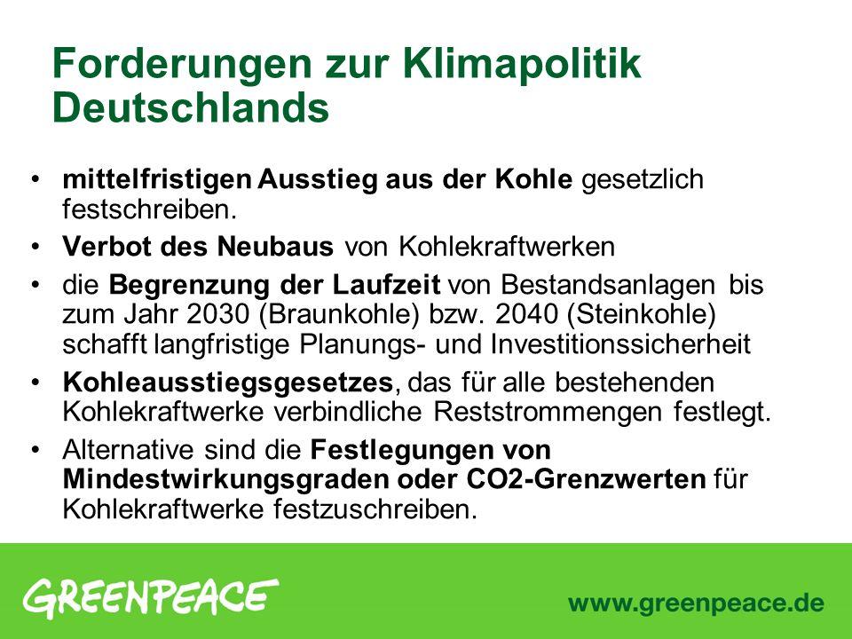 Forderungen zur Klimapolitik Deutschlands