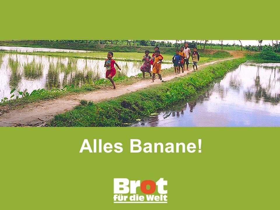 """Alles Banane! Powerpoint-Präsentation. zur Darstellung des Fairen Handels und dem Engagement von """"Brot für die Welt"""