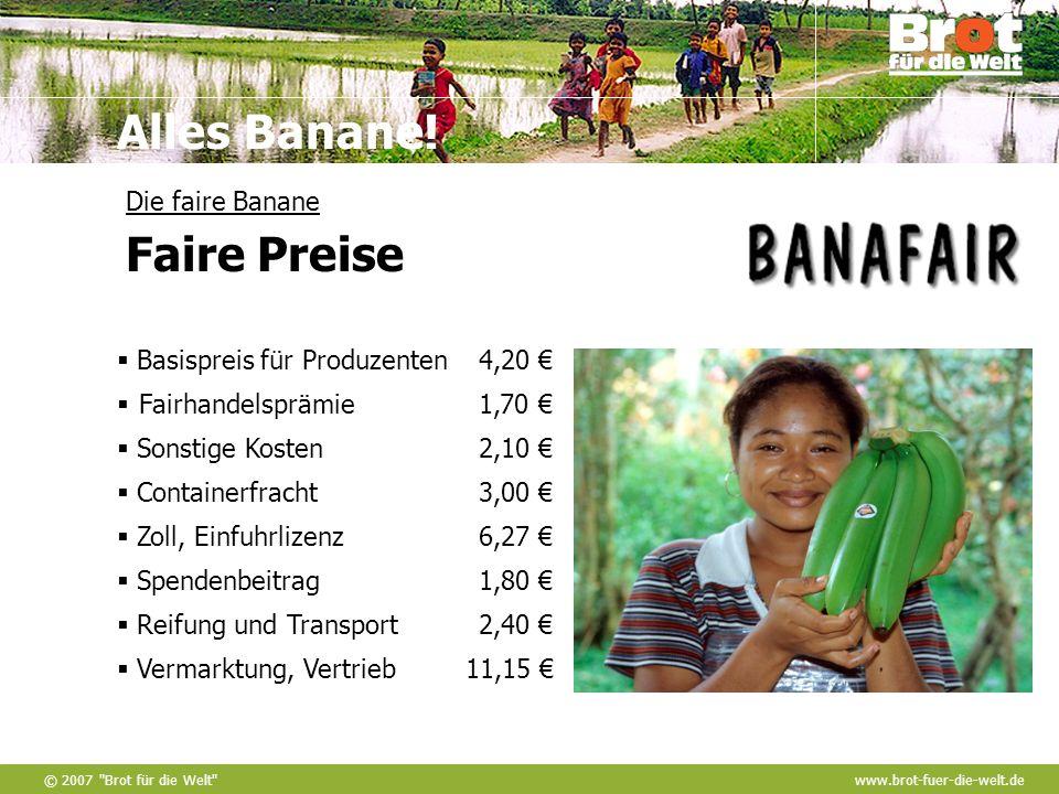 Die faire Banane Faire Preise