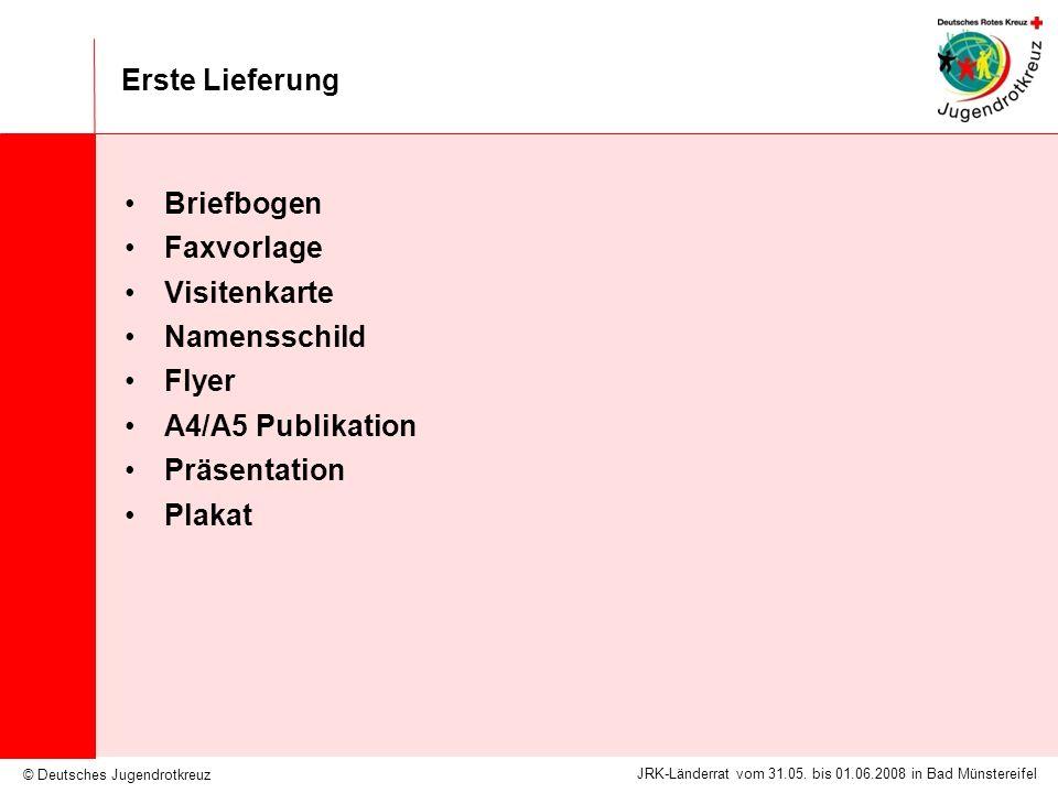 Erste Lieferung Briefbogen. Faxvorlage. Visitenkarte. Namensschild. Flyer. A4/A5 Publikation. Präsentation.