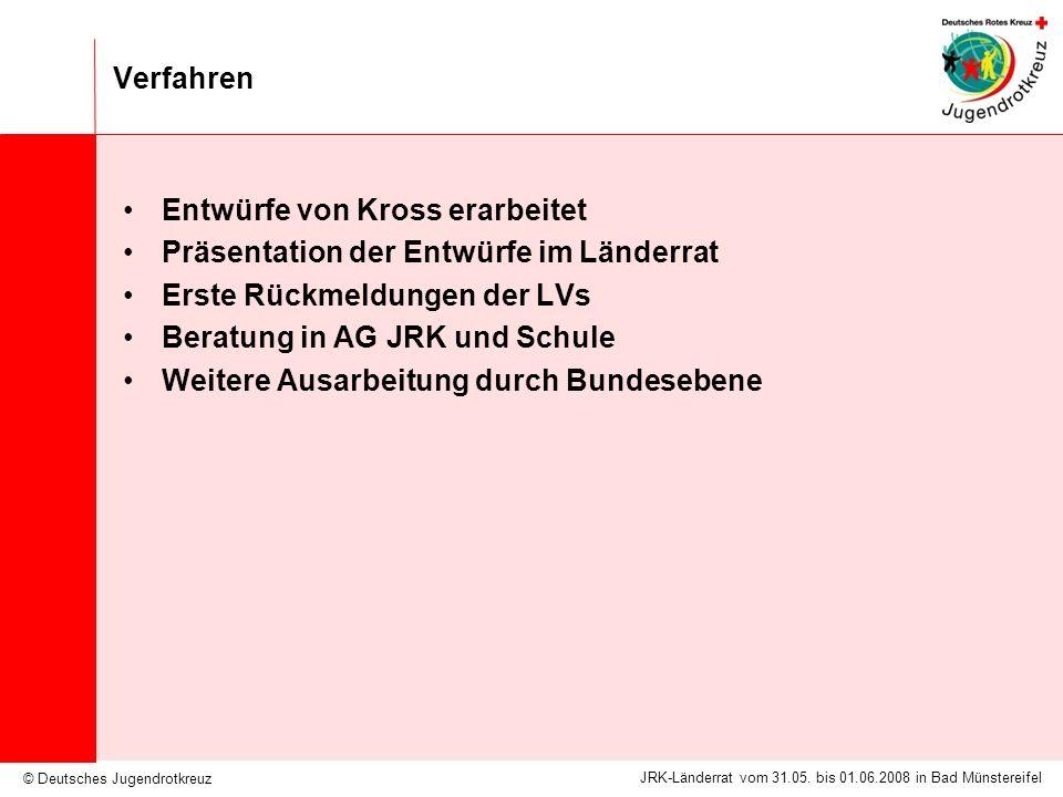Verfahren Entwürfe von Kross erarbeitet. Präsentation der Entwürfe im Länderrat. Erste Rückmeldungen der LVs.