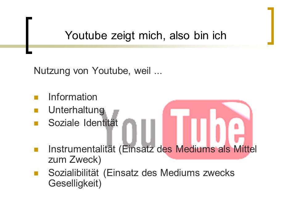 Youtube zeigt mich, also bin ich