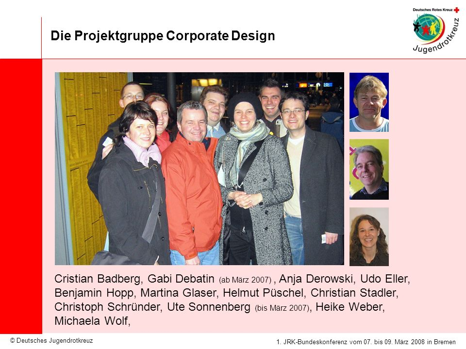 Die Projektgruppe Corporate Design