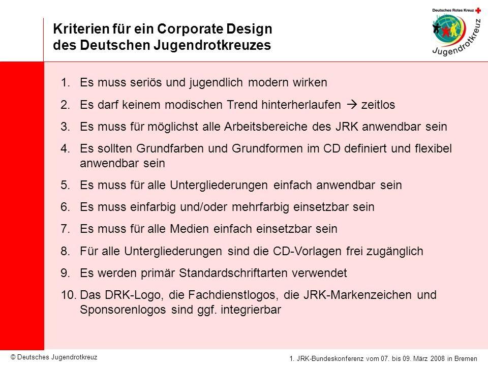 Kriterien für ein Corporate Design des Deutschen Jugendrotkreuzes