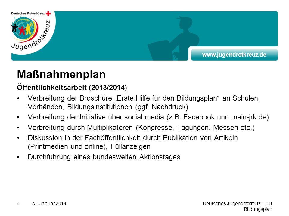 Maßnahmenplan Öffentlichkeitsarbeit (2013/2014)