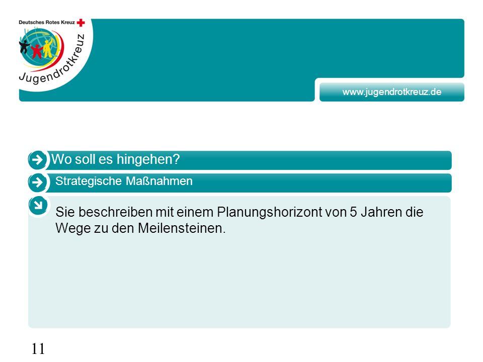 www.jugendrotkreuz.de Wo soll es hingehen Strategische Maßnahmen.