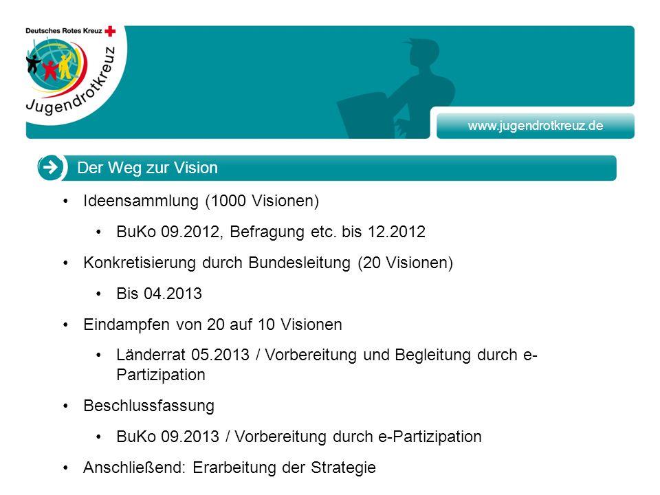 Ideensammlung (1000 Visionen) BuKo 09.2012, Befragung etc. bis 12.2012