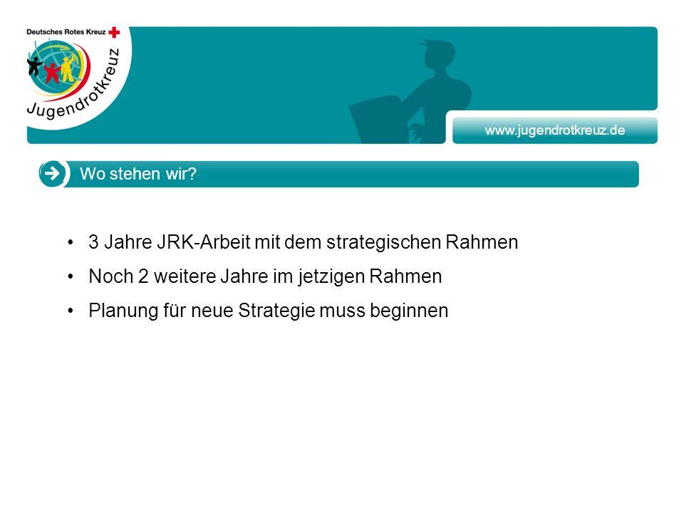 3 Jahre JRK-Arbeit mit dem strategischen Rahmen