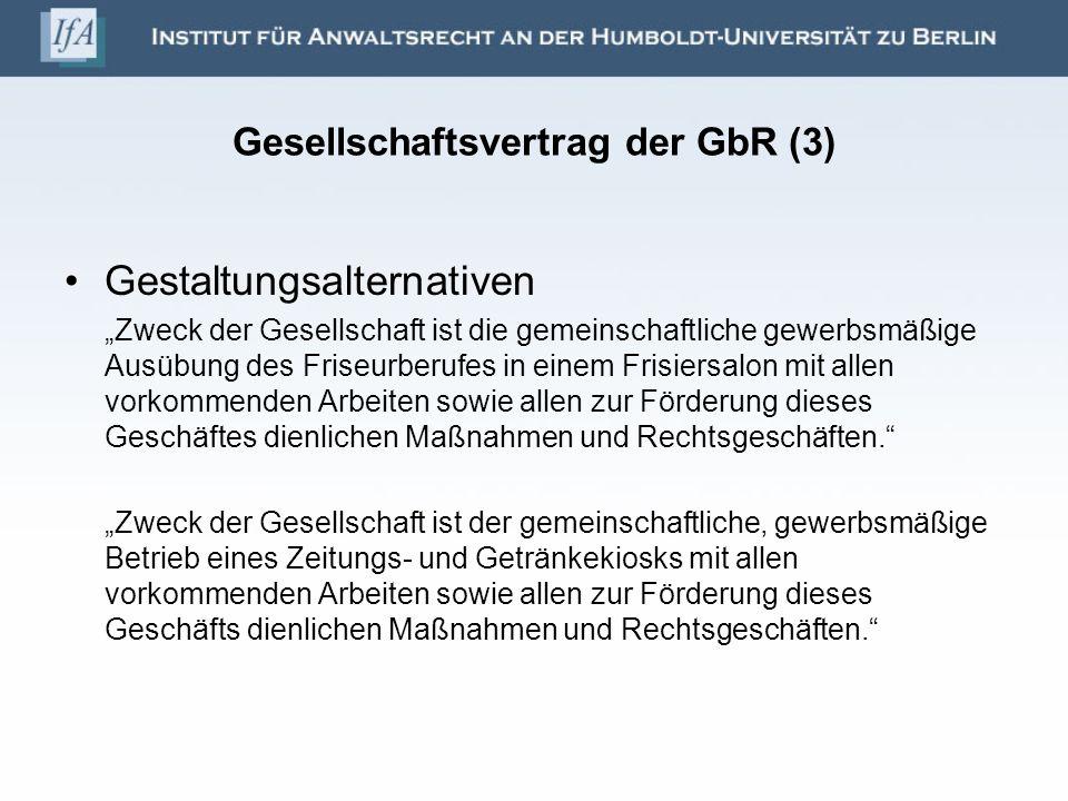 Gesellschaftsvertrag der GbR (3)