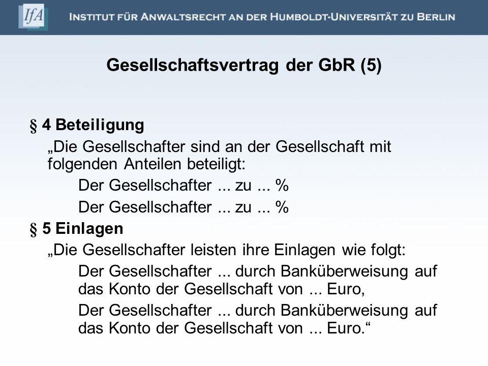 Gesellschaftsvertrag der GbR (5)