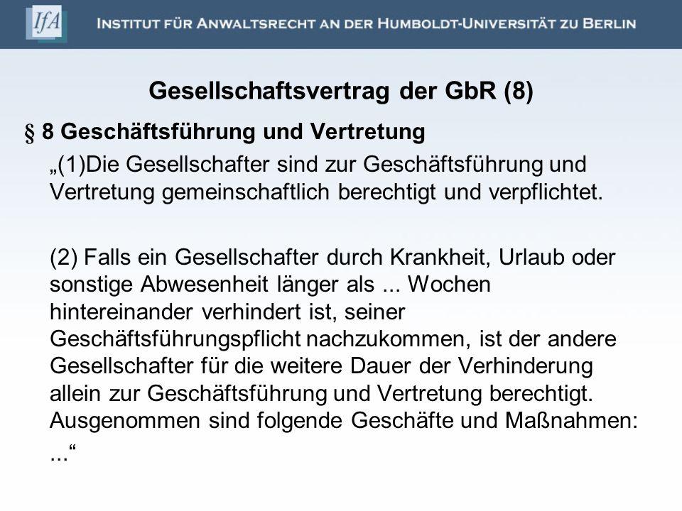 Gesellschaftsvertrag der GbR (8)