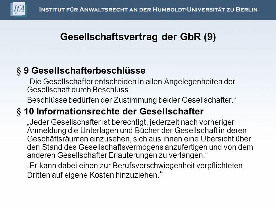 Gesellschaftsvertrag der GbR (9)