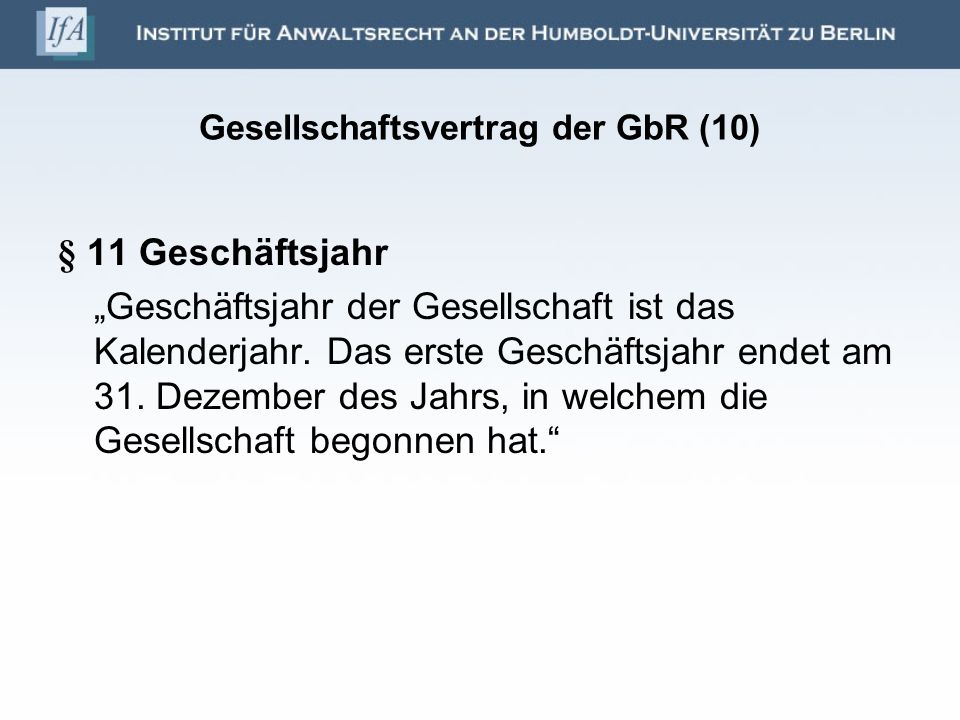 Gesellschaftsvertrag der GbR (10)
