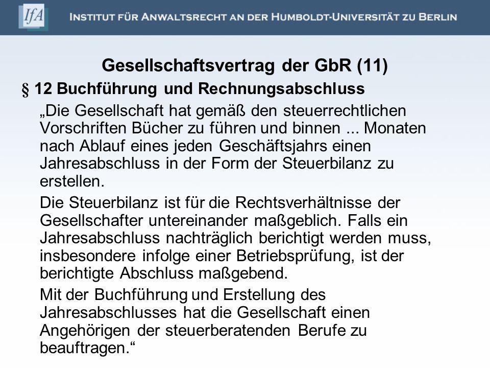 Gesellschaftsvertrag der GbR (11)