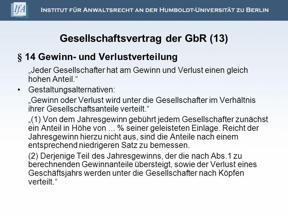 Gesellschaftsvertrag der GbR (13)