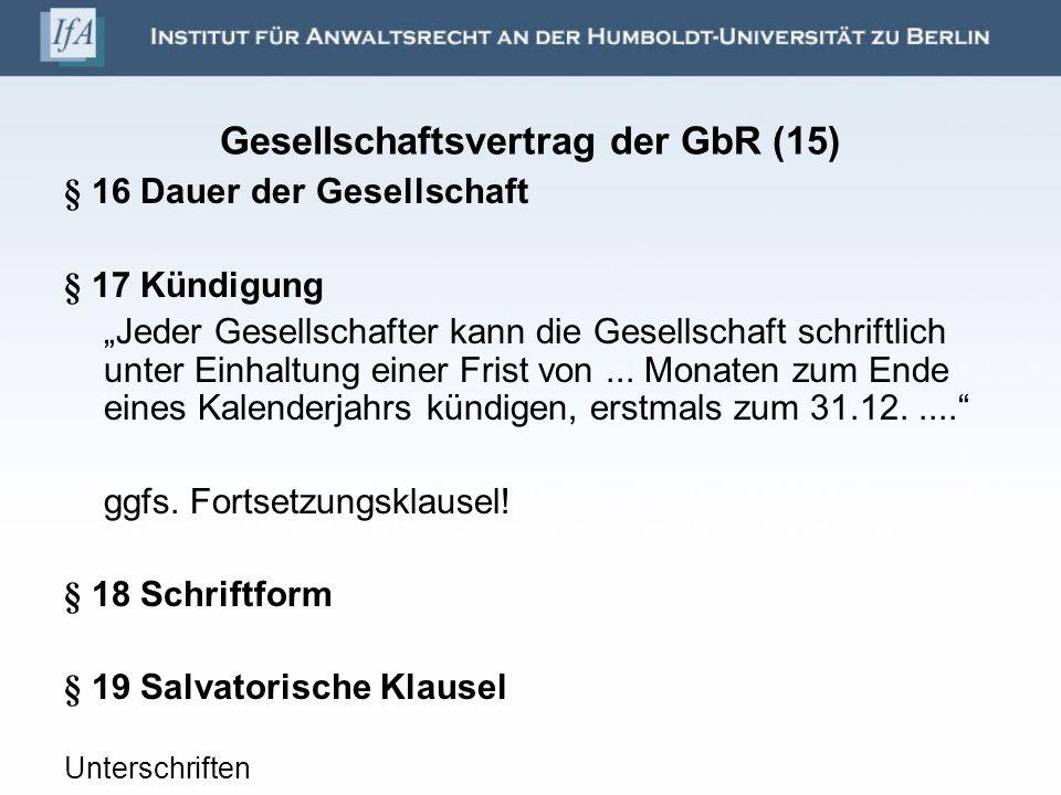 Gesellschaftsvertrag der GbR (15)