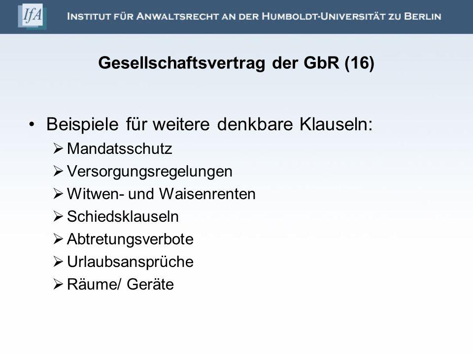 Gesellschaftsvertrag der GbR (16)