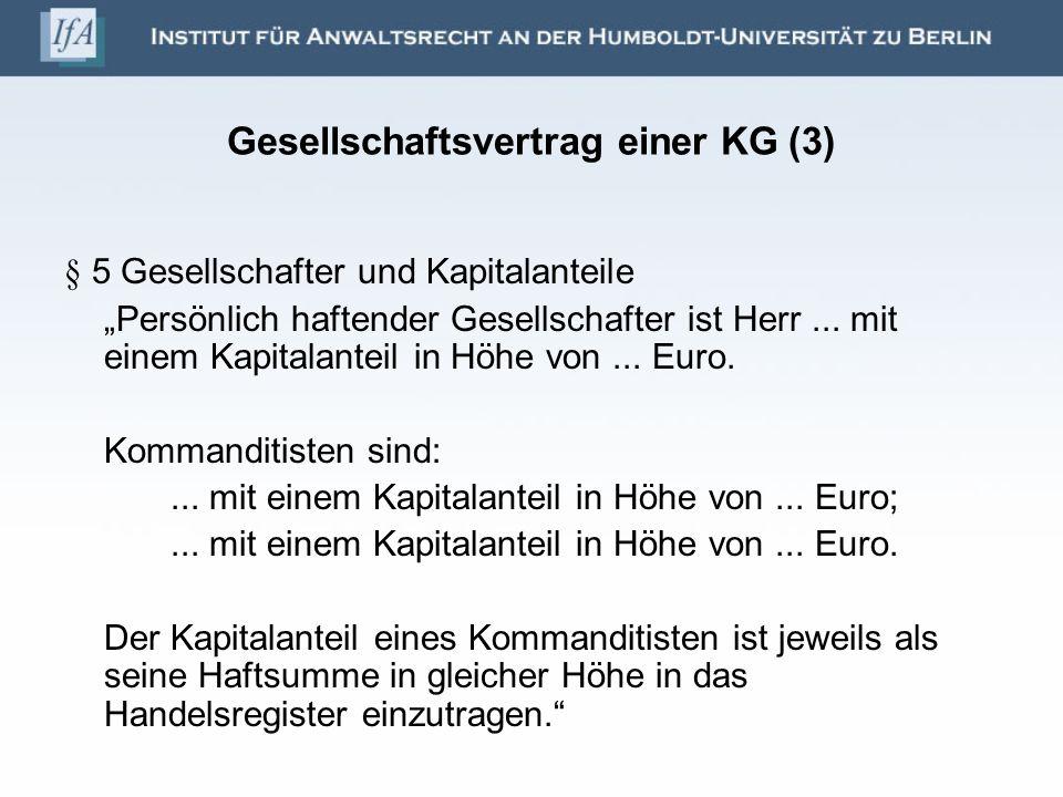 Gesellschaftsvertrag einer KG (3)
