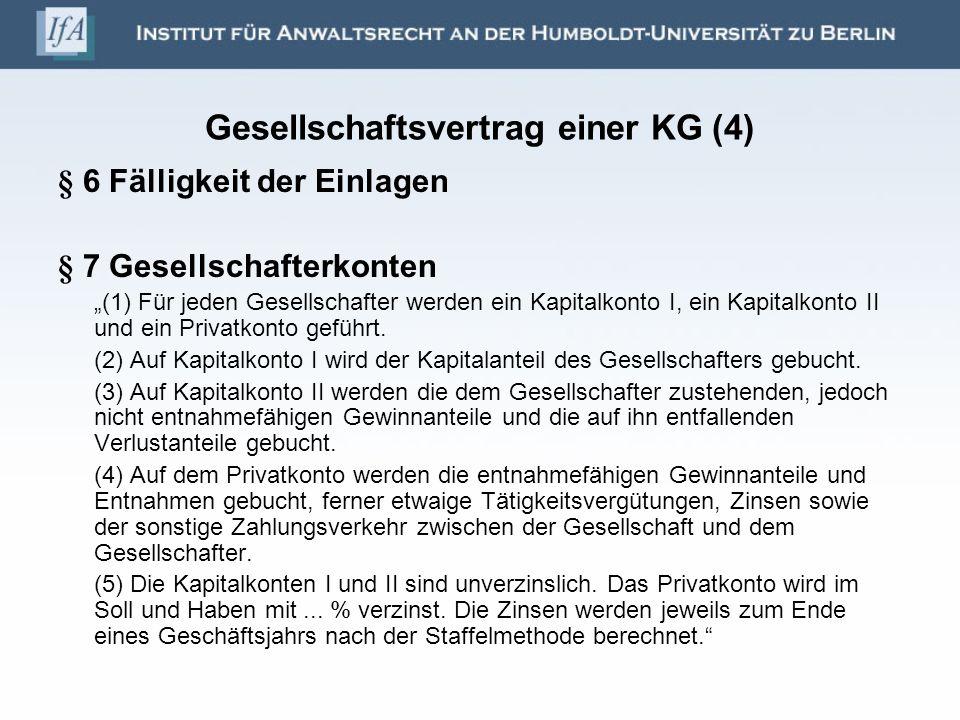 Gesellschaftsvertrag einer KG (4)