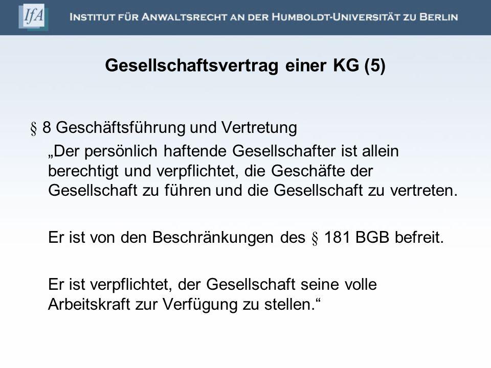 Gesellschaftsvertrag einer KG (5)