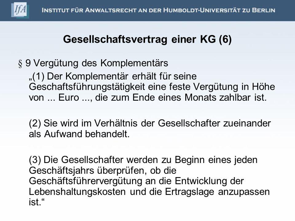 Gesellschaftsvertrag einer KG (6)