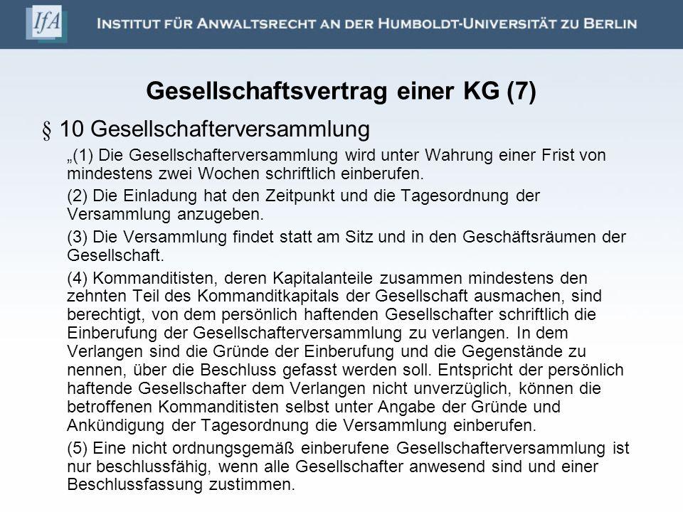 Gesellschaftsvertrag einer KG (7)