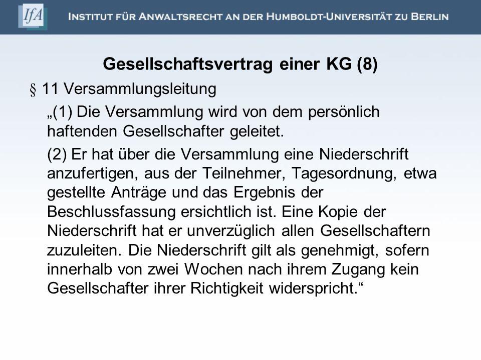 Gesellschaftsvertrag einer KG (8)