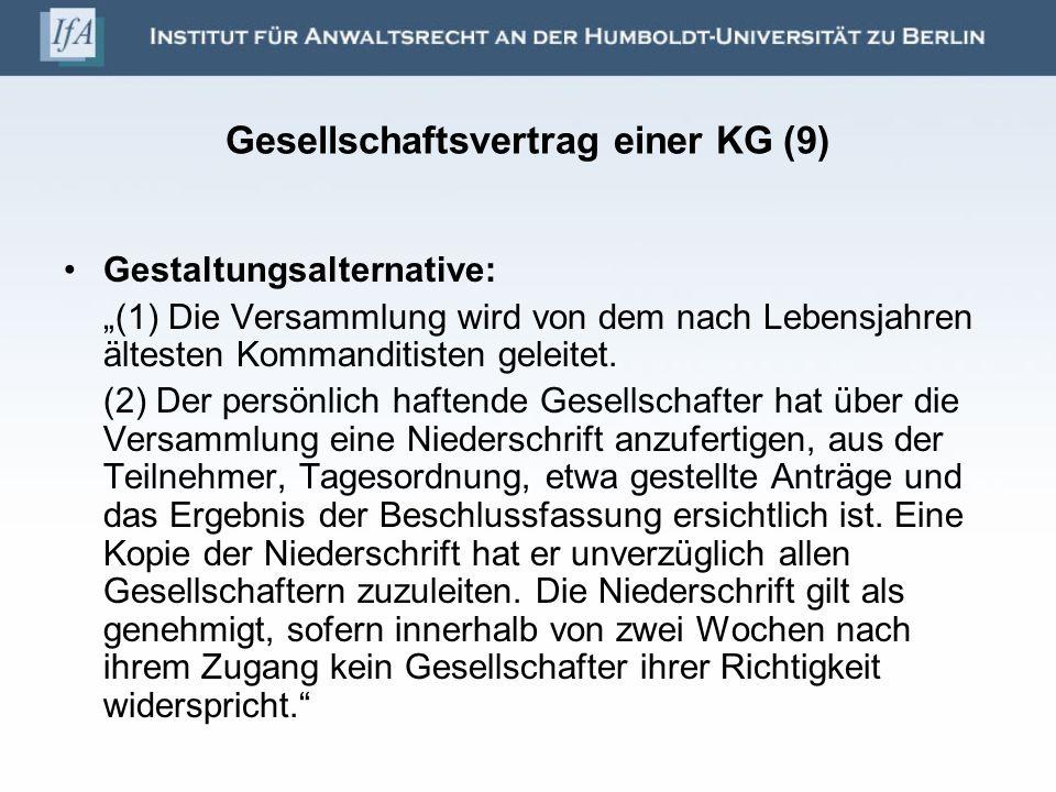 Gesellschaftsvertrag einer KG (9)