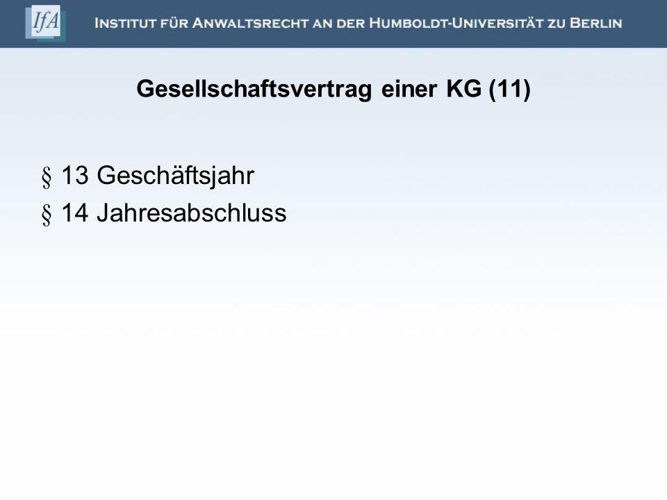 Gesellschaftsvertrag einer KG (11)