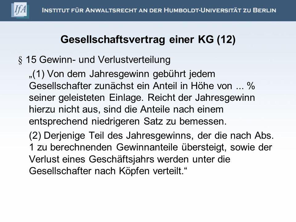 Gesellschaftsvertrag einer KG (12)