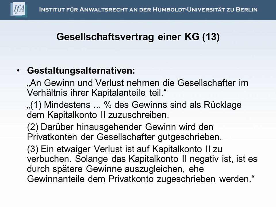 Gesellschaftsvertrag einer KG (13)