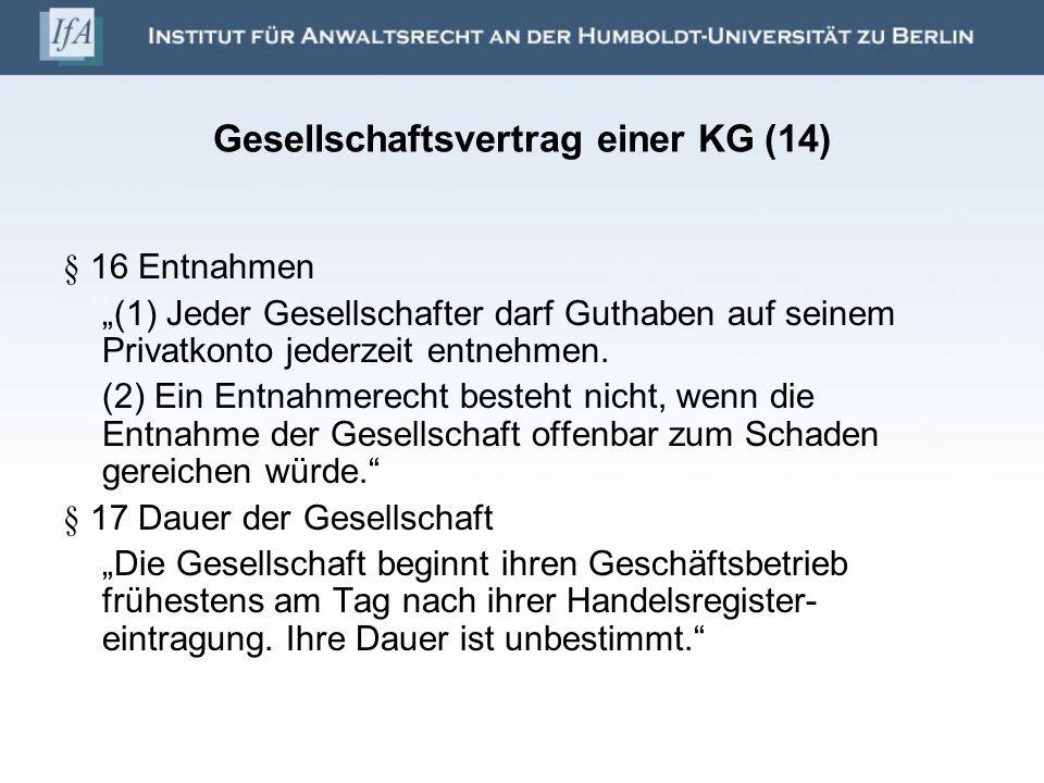 Gesellschaftsvertrag einer KG (14)