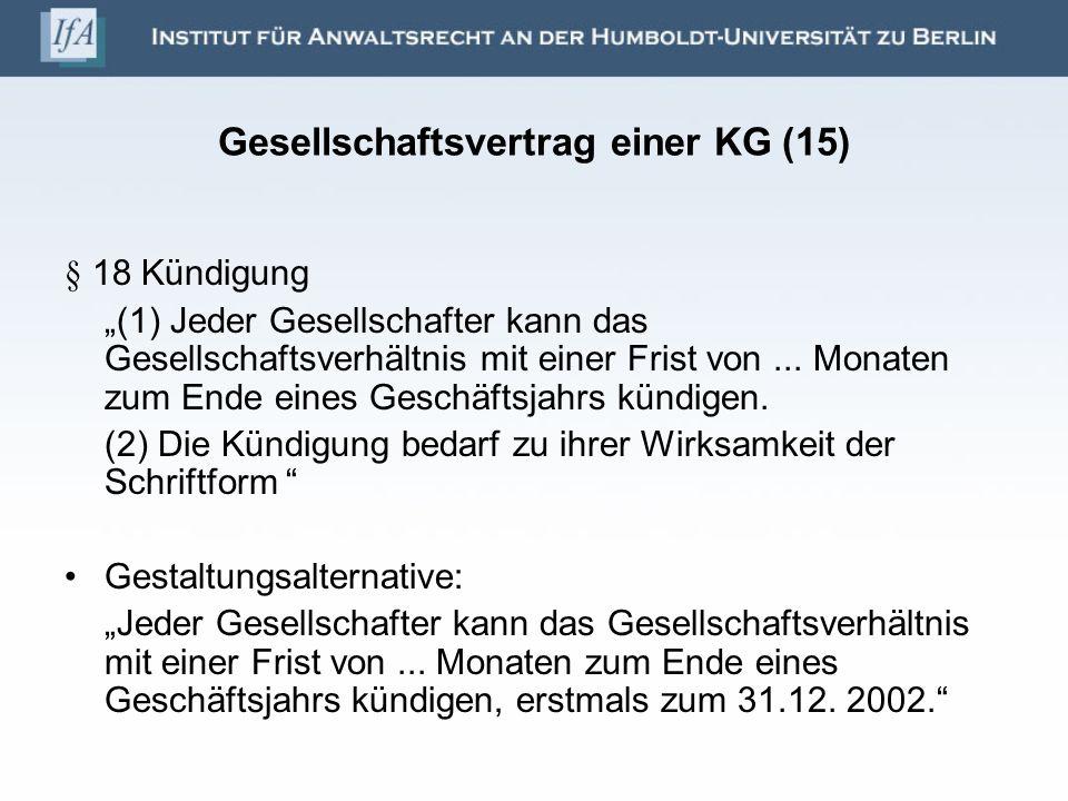 Gesellschaftsvertrag einer KG (15)